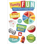 Family Fun - Paper House 3D Stickers