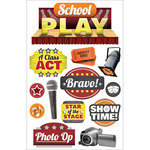 School Play - Paper House 3D Stickers