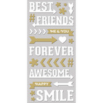 "Best Friends - Paper House Puffy Stickers 3""X6.35"""