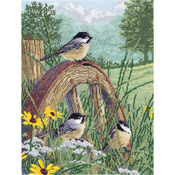 """11""""X14"""" 14 Count - Meadow's Edge Counted Cross Stitch Kit"""