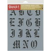 "Old English Font - Stencil1 8.5""X11"" Alphabet Stencil"