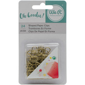 Gold Shapes - Oh Goodie! Decorative Paper Clips 24/Pkg