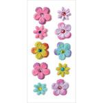 Luau - Handmade Tie-Dyed Flowers Stickers