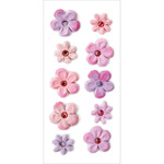 Pink Berry - Handmade Tie-Dyed Flowers Stickers