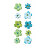 Paradise - Handmade Tie-Dyed Flowers Stickers