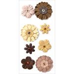 Almond Mocha - Handmade Flowers Stickers