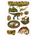 Dinosaurs - Chipboard Glitter Stickers