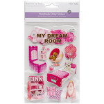 My Dream Room - Chipboard Glitter Stickers