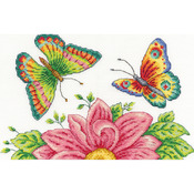 """10""""X6.5"""" 14 Count - Butterfly Garden Counted Cross Stitch Kit"""