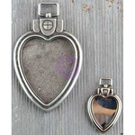 Heart Locket Pendants 2/Pkg - Finnabair Mechanicals Metal Embellishments
