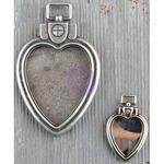 Heart Locket Pendants 2/Pkg - Finnabair Mechanicals Metal Embellishments