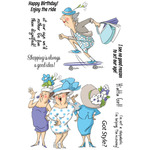 "Got Style - Art Impressions People Clear Rubber Stamps 4""X6"""