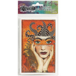 """Printed - Dyan Reaveley's Dylusions Adhesive Canvas 3.375""""X5.25"""" 8/Pkg"""