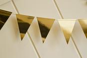 Gold Foil Mini Pennant Banner - My Minds Eye
