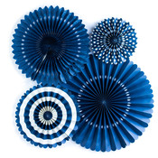 Navy Assorted Party Fans - My Minds Eye