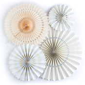 Ivory Assorted Party Fans - My Minds Eye