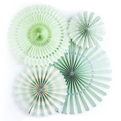 Mint Assorted Party Fans - My Minds Eye