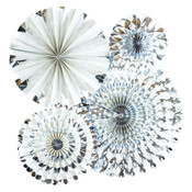 Silver Foil Party Fans - My Minds Eye