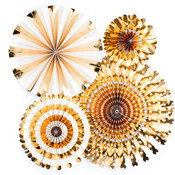 Gold Foil Party Fans - My Minds Eye