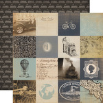 3 x 3 Cards Paper - Old World Travel - Carta Bella