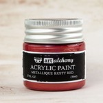 Rusty Red Metallique Acrylic Paint - Art Alchemy - Finnabair