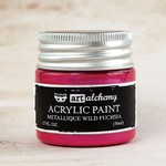 Wild Fuchsia Metallique Acrylic Paint - Art Alchemy - Finnabair
