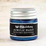 Deep Waters Metallique Acrylic Paint - Art Alchemy - Finnabair