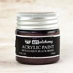 Black Berry Metallique Acrylic Paint - Art Alchemy - Prima