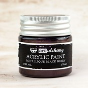 Black Berry Metallique Acrylic Paint - Art Alchemy - Prima