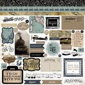Old World Travel Sticker Sheet - Carta Bella