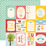 Journaling 3X4 Cards Paper - Happy Summer - Echo Park