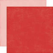 Red/Pink Solid Distressed Cardstock - Happy Summer - Echo Park