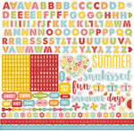 Happy Summer Alpha Cardstock Stickers - Echo Park