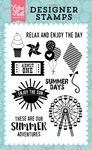 Summer Adventures Stamp Set - Happy Summer - Echo Park