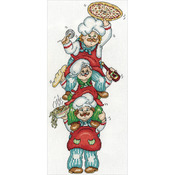 """6""""X14"""" 14 Count - Pizza Delivery Counted Cross Stitch Kit"""