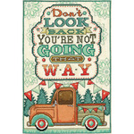 "8""X12"" 14 Count - Don't Look Back Counted Cross Stitch Kit"