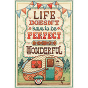 """8""""X12"""" 14 Count Life Is Wonderful Counted Cross Stitch Kit"""