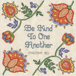 "10""X10"" 14 Count - Be Kind Counted Cross Stitch Kit"