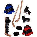 Hockey - Dress It Up Embellishments