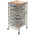 Tim Holtz Signature Design Industrial 7-Drawer Storage Cart