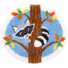 "Raccoon In Tree - Vervaco Shaped Rug Latch Hook Kit 21.5""X20"""