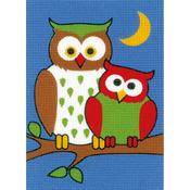 """5.25""""X7.25"""" - Night Owls Plastic Canvas Kit"""