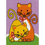 "5.25""X7.25"" - Playing Cats Plastic Canvas Kit"