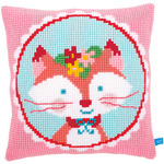 "16""X16"" - Laughing Small Fox Cushion Cross Stitch Kit"