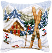 "16""X16"" - Snow Fun Cushion Cross Stitch Kit"