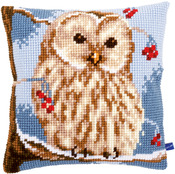 "16""X16"" - Winter Owl Cushion Cross Stitch Kit"