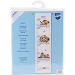 """7.2""""X28"""" 14 Count - Playing Dogs Growth Chart On Aida Counted Cross Stitch Kit"""