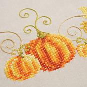 """32""""X32"""" - Pumpkins Tablecloth Stamped Cross Stitch Kit"""