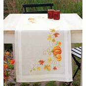 "16""X40"" - Pumpkins Table Runner Stamped Cross Stitch Kit"