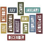 Block Calendar Words - Sizzix Thinlits Dies 12/Pkg By Tim Holtz